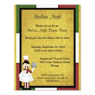 Italian Night Dinner Party Invitation