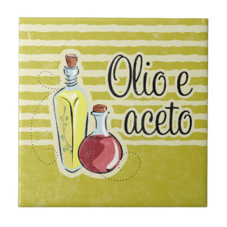 Italian Oil & Vinegar Tile Trivet