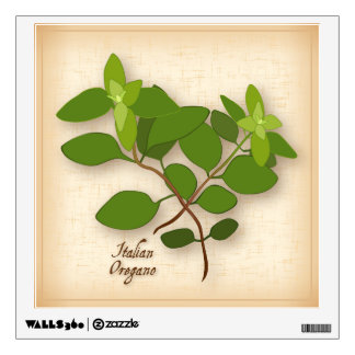 Italian Oregano Herb Wall Decal