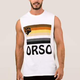Italian (Orso) Gay Bear Pride Flag Sleeveless Shirt