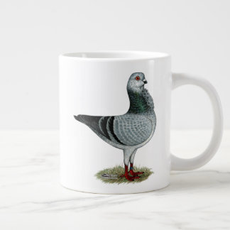 Italian Owl Grizzle Pigeon Large Coffee Mug