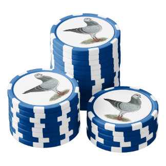 Italian Owl Grizzle Pigeon Poker Chips Set