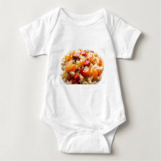 Italian pasta fusilli with vegetable ragout of pep baby bodysuit