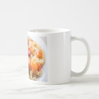 Italian pasta fusilli with vegetable ragout of pep coffee mug