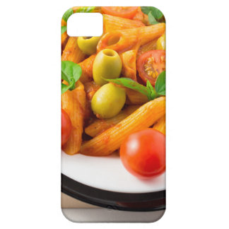 Italian pasta penne in tomato sauce with olives case for the iPhone 5