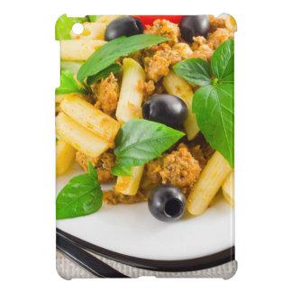 Italian pasta rigatoni with bolognese, beef iPad mini covers