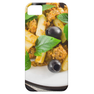 Italian pasta rigatoni with bolognese, beef iPhone 5 case
