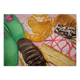 Italian Pastries Card