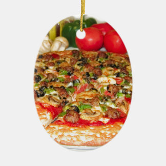 Italian Pizza Ceramic Ornament