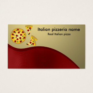 Italian pizzeria business card