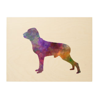 Italian Pointer in watercolor Wood Wall Art
