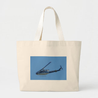 Italian Police helicopter. Canvas Bags
