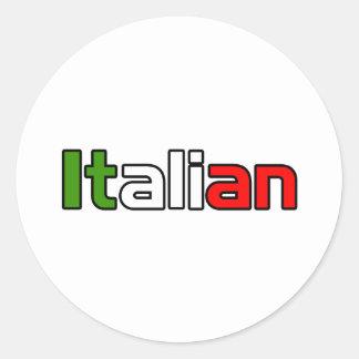 Italian Pride Classic Round Sticker