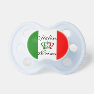 Italian Prince Vintage Crown Italy Italian Flag Pacifier