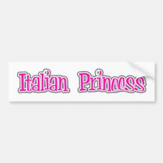 Italian Princess Bumper Sticker