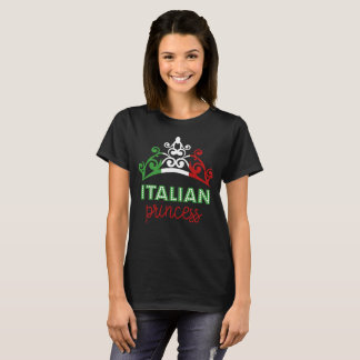 Italian Princess Tiara National Flag T-Shirt