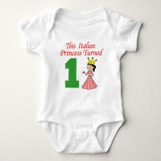 Italian Princess Turned One Baby Bodysuit