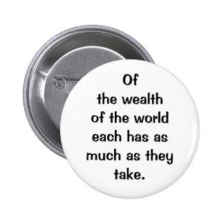 Italian Proverb No.125 2 Inch Round Button