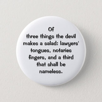 Italian Proverb No.126 Button