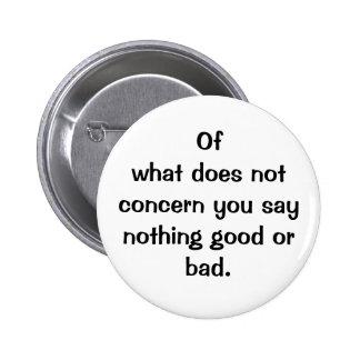Italian Proverb No.128 Button