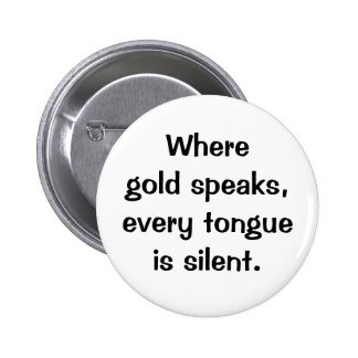 Italian Proverb No.206 Button