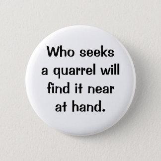 Italian Proverb No.214 Button