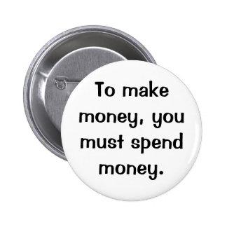 Italian Proverb No.218A Button