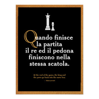Italian Proverb Poster