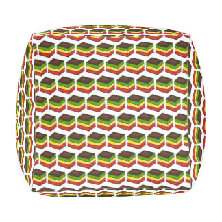 Italian Rainbow 7 Seven Layer Cookie Pastry Pouf