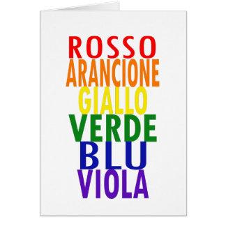 Italian Rainbow Colors Card