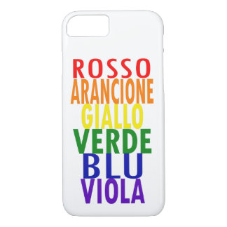 Italian Rainbow Colors iPhone 8/7 Case
