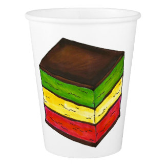 Italian Rainbow Seven Layer Christmas Xmas Cookie Paper Cup