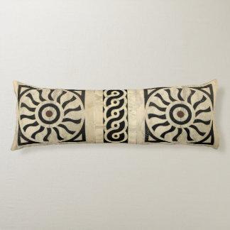 Italian Renaissance Black & White Marble Pattern Body Pillow