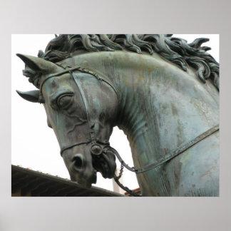 Italian Renaissance sculpture of a horse Poster
