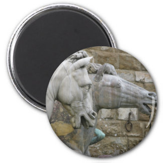 Italian Renaissance sculpture of horses Magnet