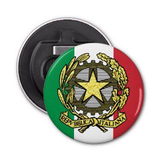 Italian Republic and Italian Flag Button Bottle Opener