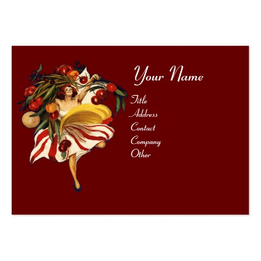 ITALIAN RESTAURANT, KITCHEN AND TOMATOES BUSINESS CARDS