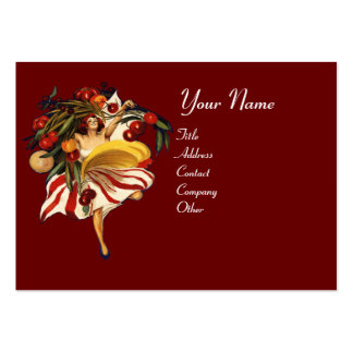 ITALIAN RESTAURANT, KITCHEN AND TOMATOES LARGE BUSINESS CARD