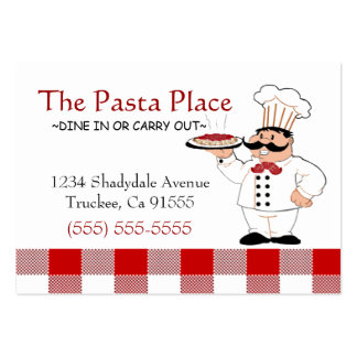 Italian Restaurant Large Business Card