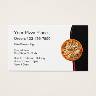 Italian Restaurant Pizza Business Card