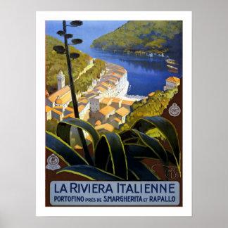Italian Riviera Vintage Travel Poster
