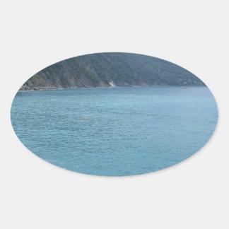 Italian sea oval sticker