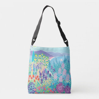 Italian seaside garden bag by artist Joanne Short