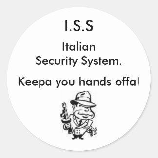 Italian Security Classic Round Sticker