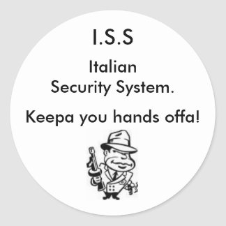 Italian Security Round Sticker