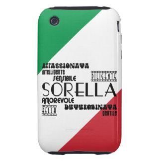 Italian Sisters : Qualities iPhone 3 Tough Case