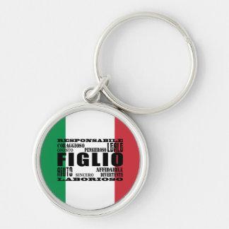 Italian Sons : Qualities Keychain