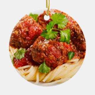 Italian Spaghetti & Meatballs Ceramic Ornament
