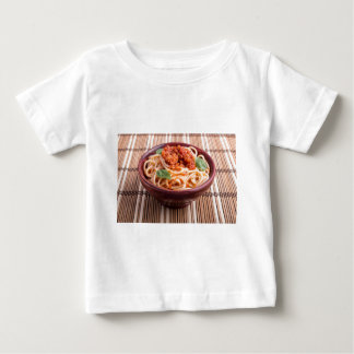 Italian spaghetti with tomato relish and basil baby T-Shirt