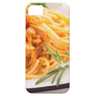 Italian spaghetti with vegetable sauce closeup case for the iPhone 5